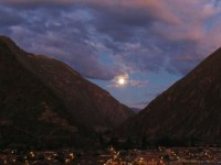 An Inca Super Moon in Ollantaytambo