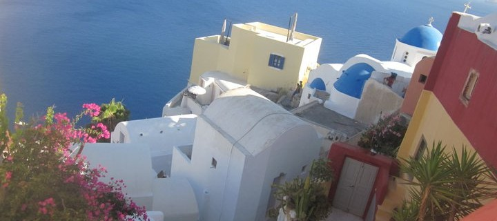 Brilliant Watercolours of Santorini