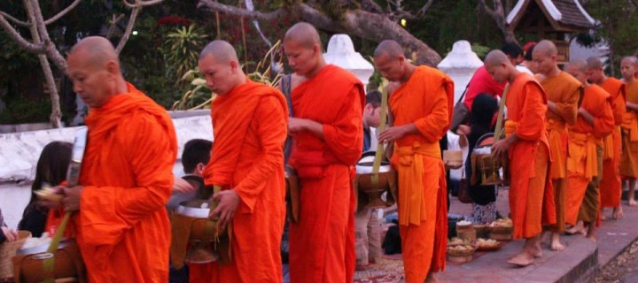 A Morning Almsgiving in Luang Prabang