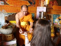A Buddhist Blessing in Chiang Mai, Thailand