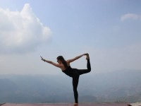 Yoga in the Mountains on a Scenic Drive to Vang Vieng