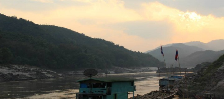 Sunsets on the Mekong in Pakbeng