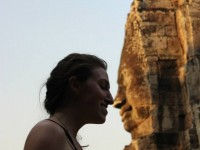 Stand Face to 216 Faces at Bayon Temple