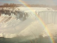 Somewhere Over the Rainbow: Frozen & Wintry Niagara Falls